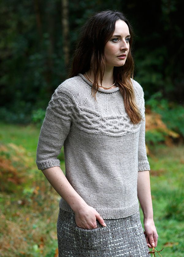 Heather Jumper Knitting Pattern - Shame this is a DK Knit, not an Aran