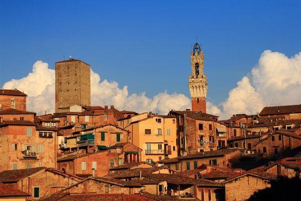View over beautiful Siena, Tuscany, Italy