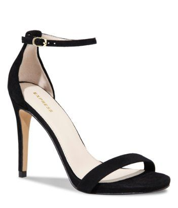 simple and elegant black high-heel #sandal #opentoe