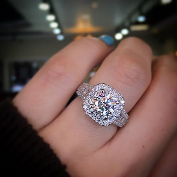17 Best Ideas About Double Halo Engagement Ring On