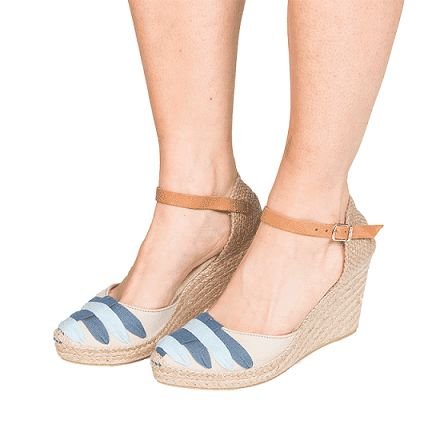 """The """"Begur"""" espadrille wedge by Toni Pons SS17. Wedge height: 3.1"""". 69 Euros at the Espadrilles Barcelona website."""