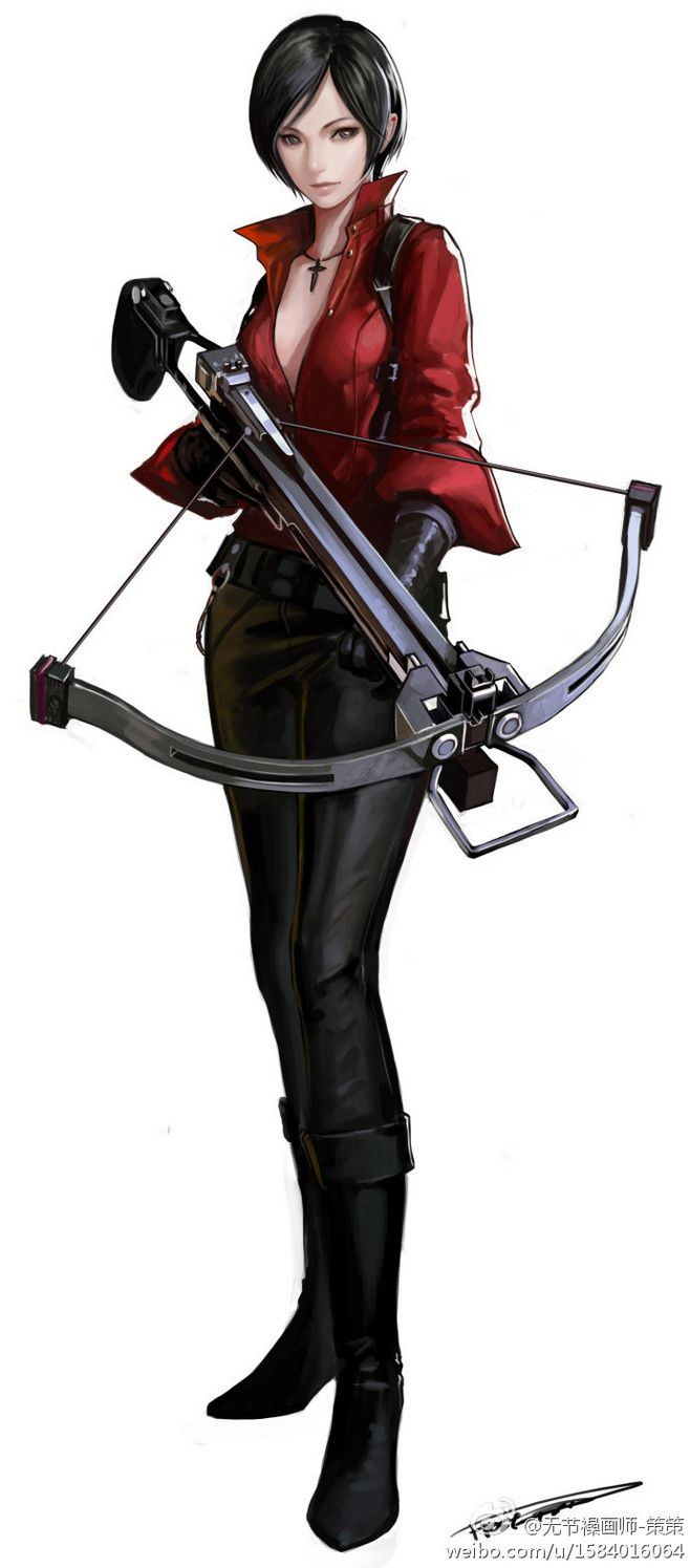 Ada wong with her bow gun one of the coolest weapons in RE 4 i wish you could use it in mercenaries and not just in Separate ways