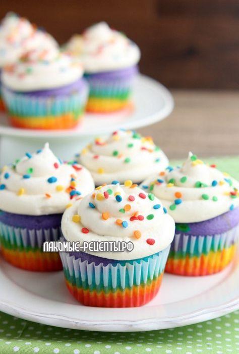 Rainbow Cupcakes1