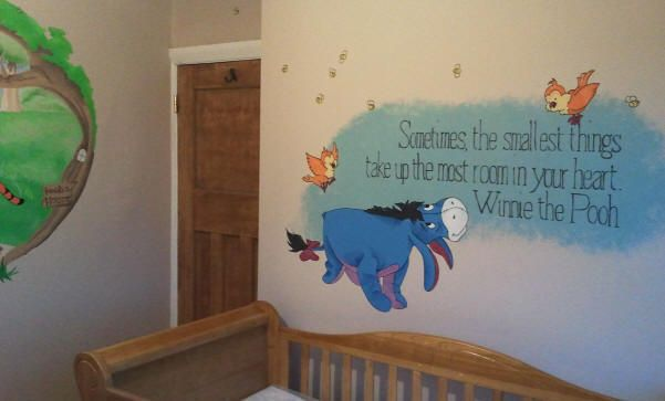 Eeyore wall decal ideas for baby boy or girl for Baby boy wall mural