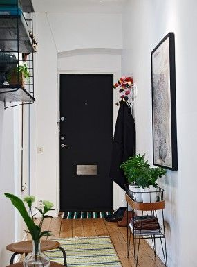 Via Room by Sofie | Hallway | Mid Century Modern | Black White Wood
