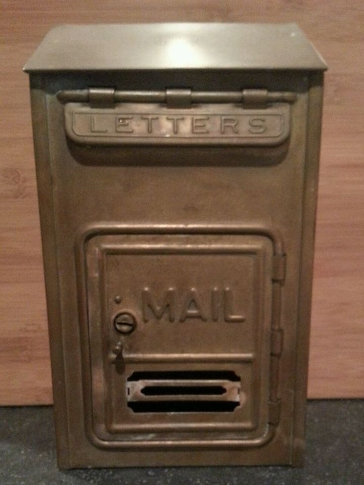 Vintage, Corbin Cabinet Lock Co., Brass Mailbox, New Britain, CT ...