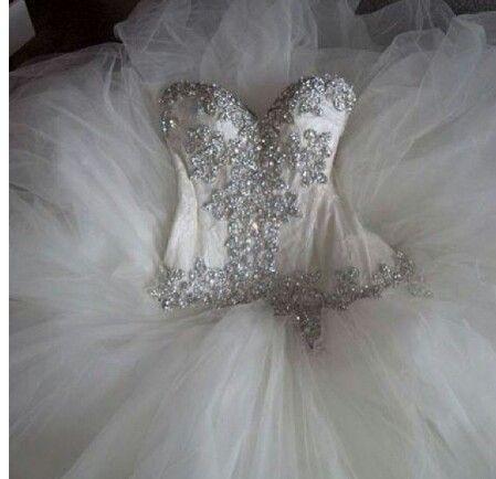 Sparkly strapless wedding dress my dream wedding for Strapless sparkly wedding dresses