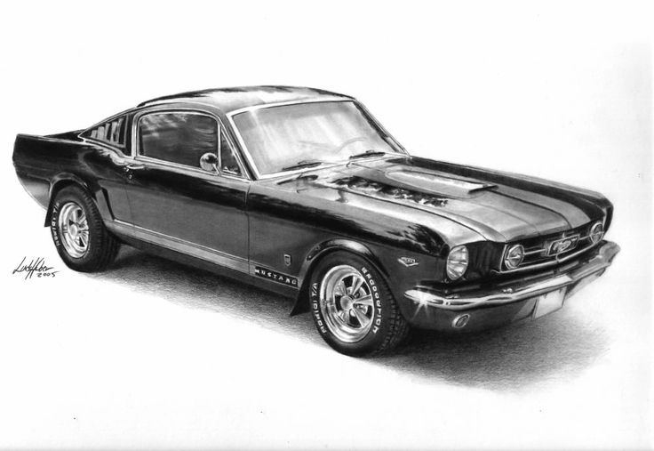 70s car drawing by linda huber