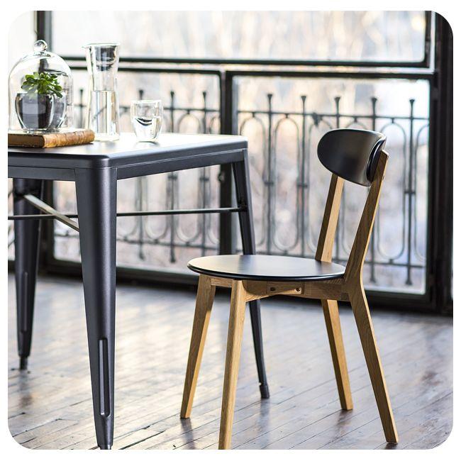 #Silla #Chair #Wood #Madera #Homy #Idea #Inspiration #Inspiración #Black #Negro #Industrial #Modern #Moderno #DiningRoom