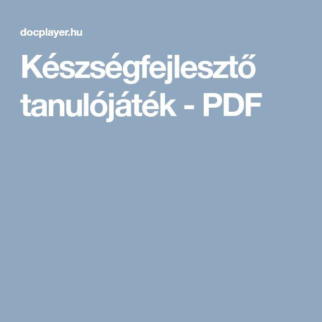 Készségfejlesztő tanulójáték - PDF