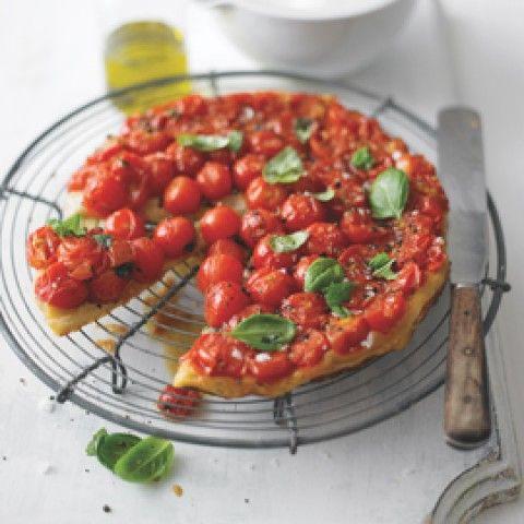 Lorraine Pascale tomato and basil tarte tatin-recipe ideas-woman and home