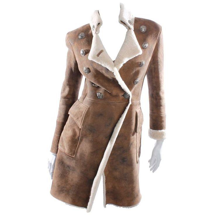 Balmain Coat - dark brown lambskin leather | 1stdibs.com