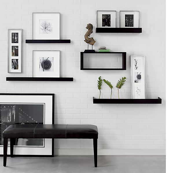 Archetype Espresso 3' Ledge in Frames, Ledges | Crate and Barrel