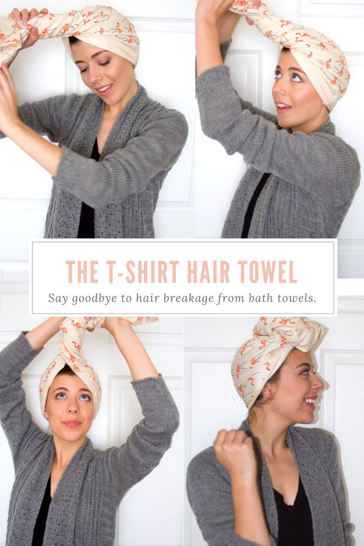 Healthy Hair Habits And Morning Routines With Lakeshore Dry Goods Style Me Fair Tshirt Hair Wrap Hair Wrap Diy Hair Towel Diy