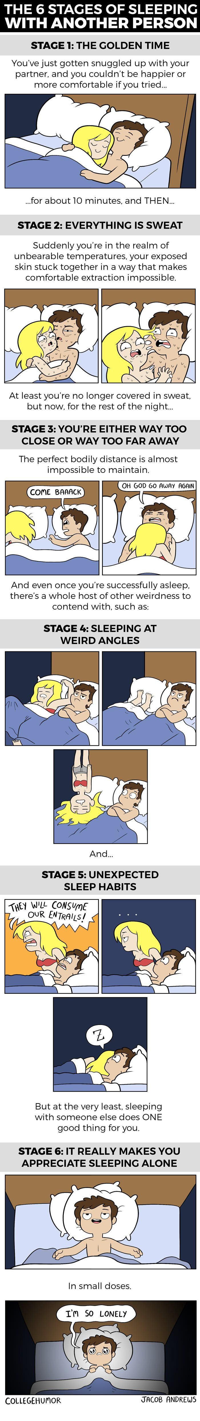 6 stages of sleeping with another person