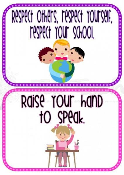 Classroom Rules Ideas ~ Whole brain teaching printable class rule cards ela