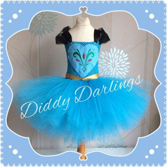 Elsa Coronation Tutu Dress. Elsa Tutu Dress. by DiddyDarlings