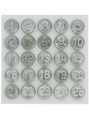 Set Of Tacks Numbered 1-25 For Wooden Screens And Storm Windows | House of Antique Hardware