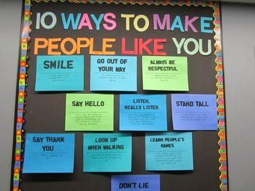 10 Ways To Make Friends (Bulletin Board)