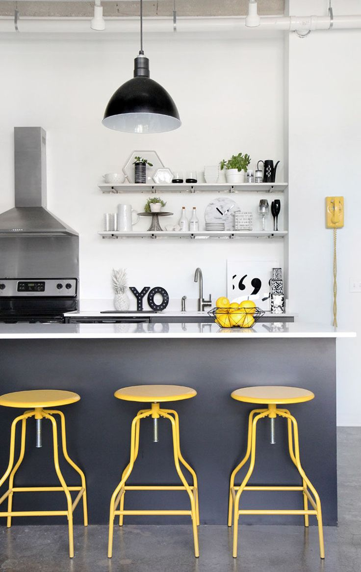 Palette Profile – Yellow, Gray, and White Interiors