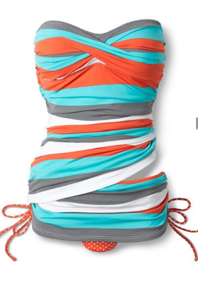 bandeau top one-piece swimsuit