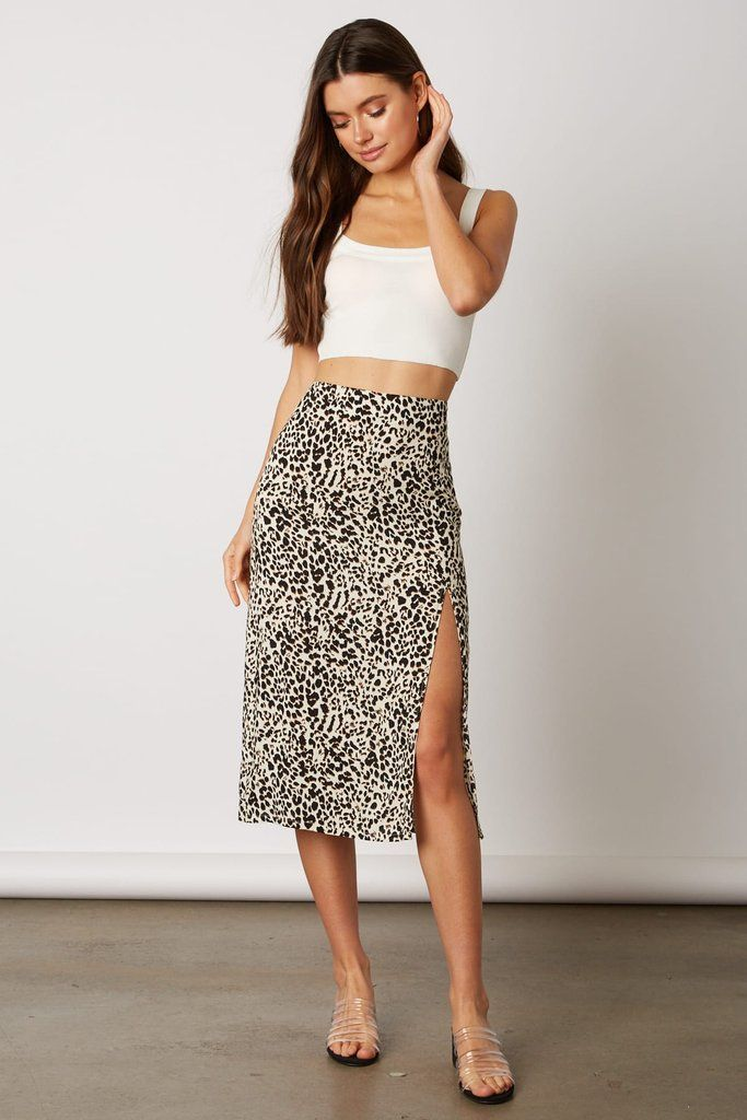 dfa1cc70b924 Leopard Print Midi Skirt With Slit in 2019 | NEW ARRIVALS | Slit skirt,  Midi skirt outfit, Midi skirt