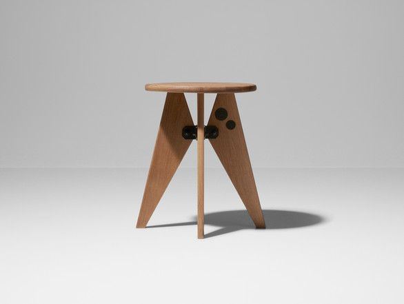 Prouvé RAW Special Edition Tabouret Solvay Low Stool