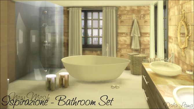 Ispirazione Bathroom Set by DalaiLama at The Sims Lover via Sims 4 Updates
