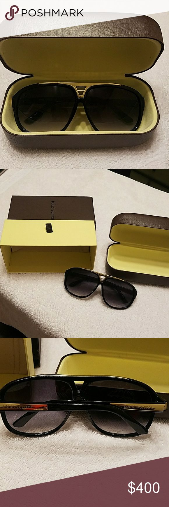 Louis Vuitton evidence millionaire sunglasses Worn once Louis Vuitton Accessories Glasses