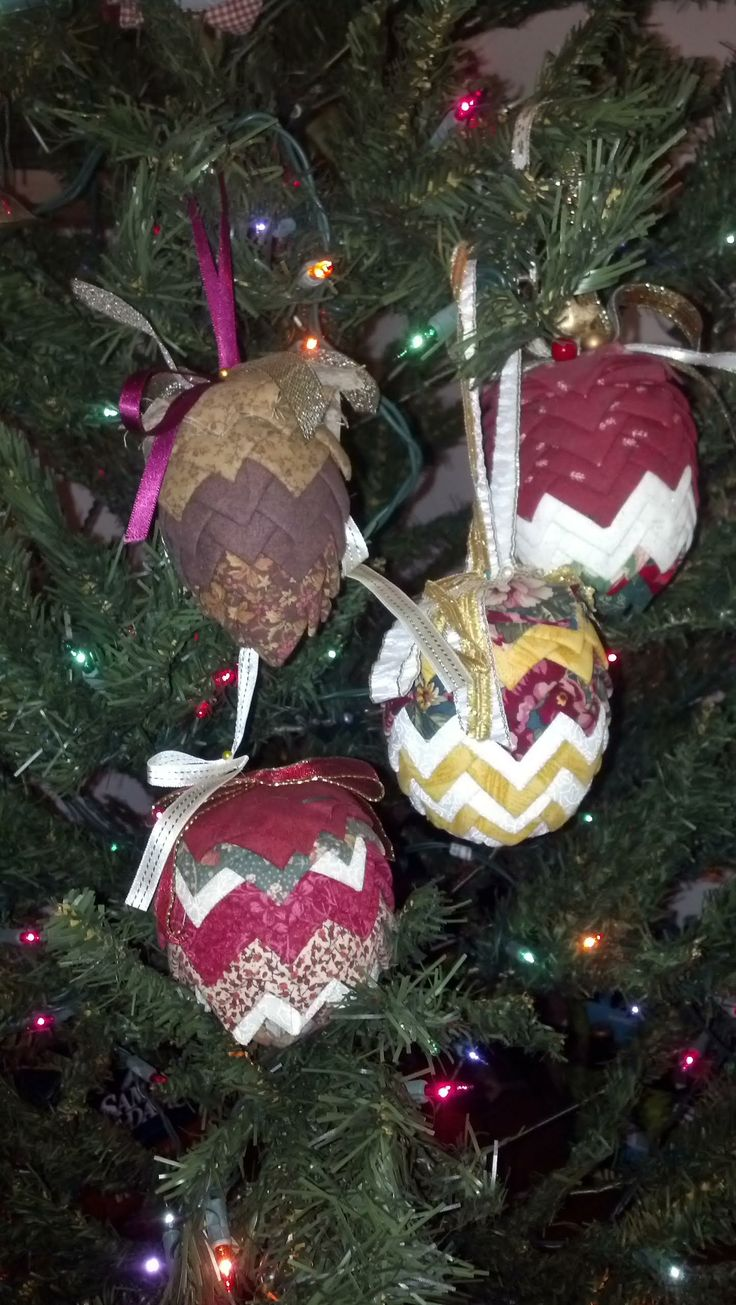 Folded fabric christmas ornaments patterns - Christmas Ornaments And Holiday Craft Decorations Easter Of July