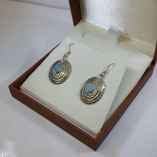 Vintage Ohrhänger - Ohrringe Ohrhänger Silber Türkis nostalgisch SO211 - ein Designerstück von Atelier-Regina bei DaWanda