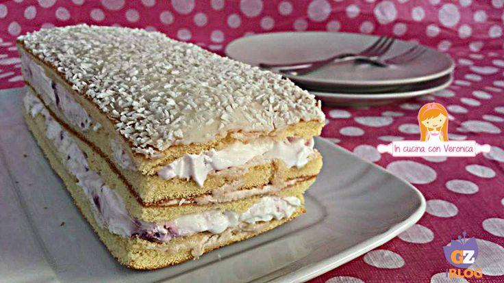 Avete voglia di una torta a gelato mà i tempi della preparazione sono lunghi? Eccovi un'idea fresca e golosa per l'estate!