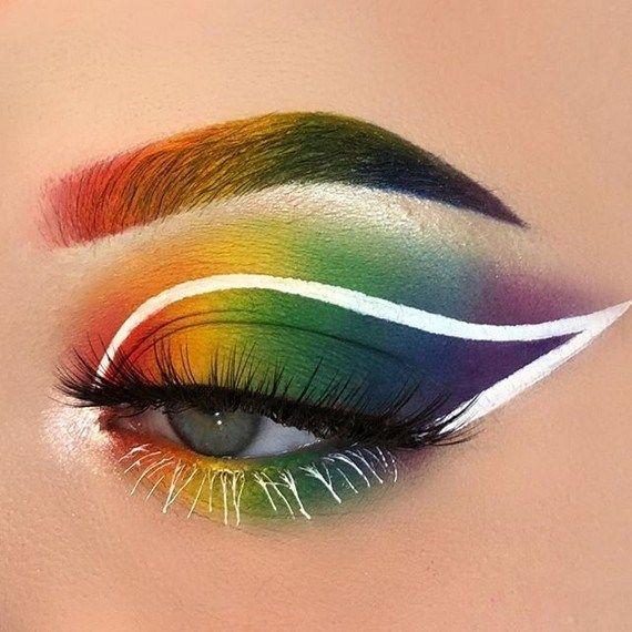 28 Pretty Rainbow Makeup Ideas Fashionable Rainbow Eye Makeup Pride Makeup Rainbow Makeup
