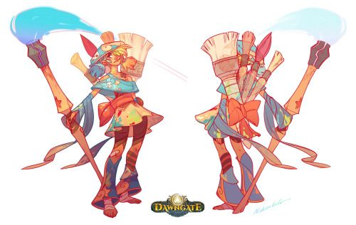 The Zeri Post. :D This week was Zeri's debut on the Dawngate Chronicles, and to celebrate that, I'm posting the full pages here together with her original character designs. Zeri was almost the first character I designed for Dawngate when I...