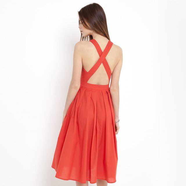 Halter-Neck Dress with Tie Belt MADEMOISELLE R