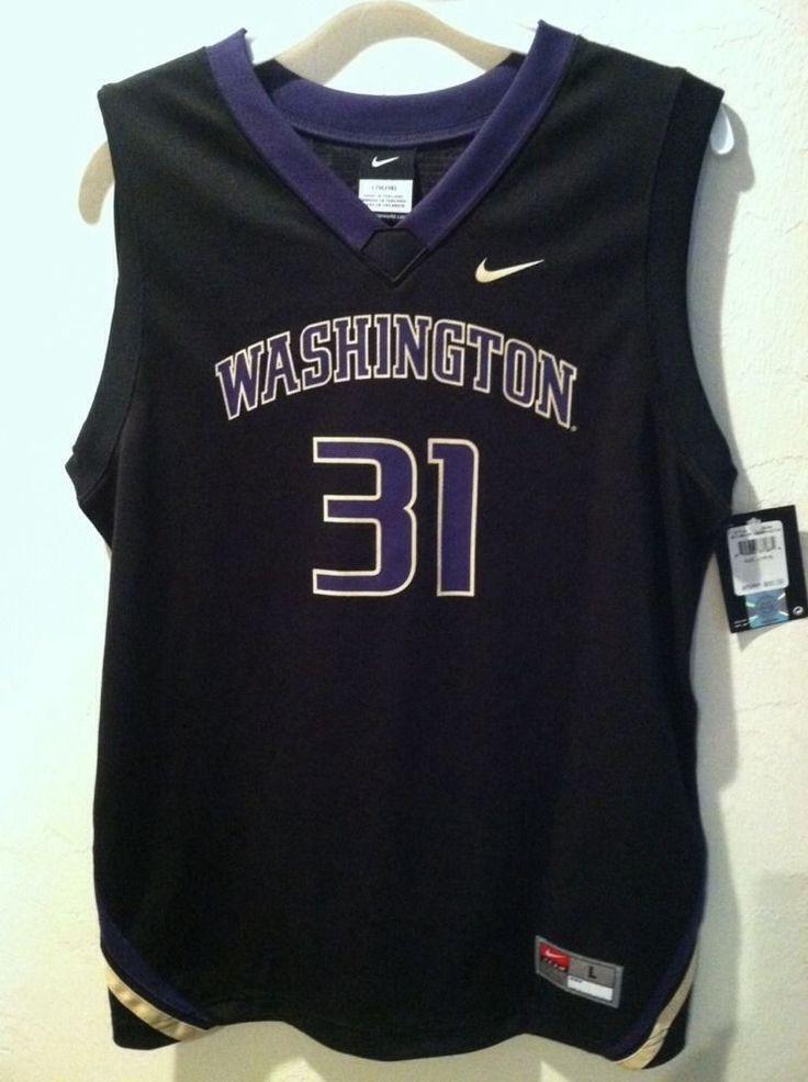 NEW Nike Washington Huskies Basketball Jersey Black #31 Youth Large (16/18) NWT #Washington