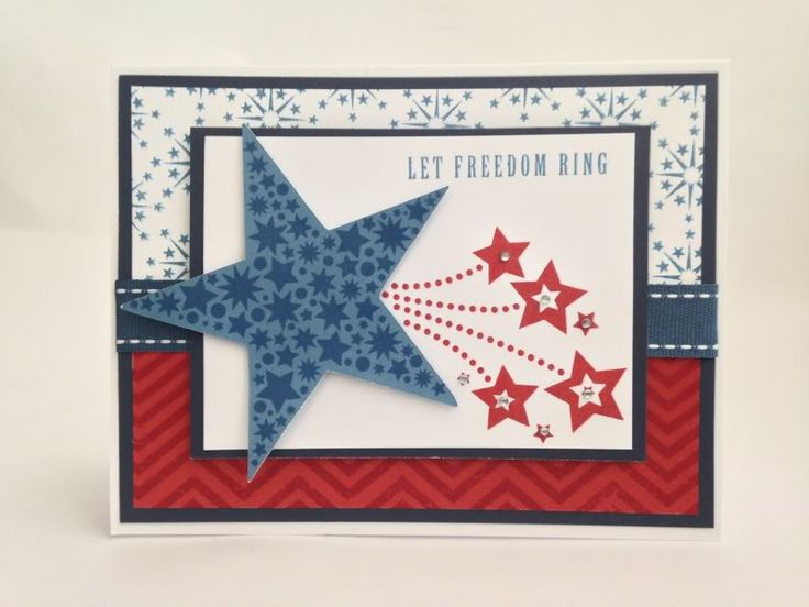 Courtney Lane Designs: Let Freedom ring card made using the Art philosophy cartridge and the American Celebration stamp set.