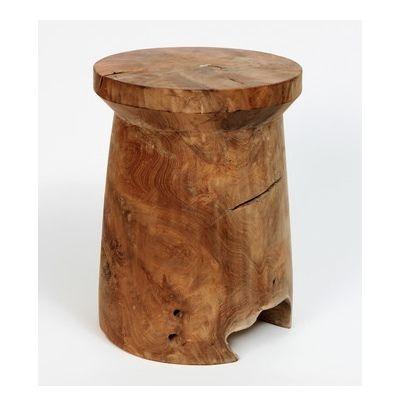 Woody Mushroom Stool | stools, wooden stools, teak stools, tables, side tables, small tables, wood table, wooden tables, teak tables