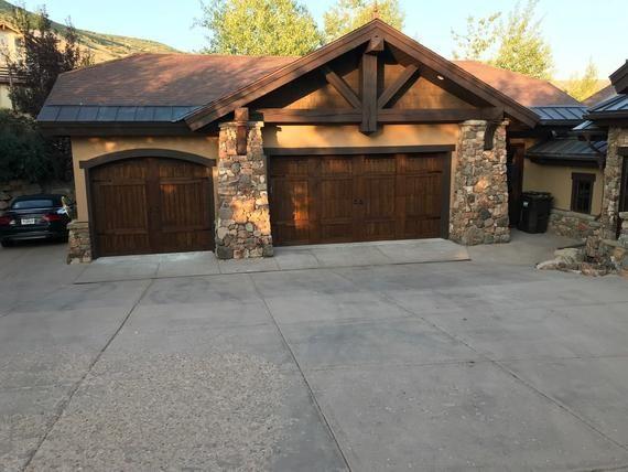 Customizable Wooden Garage Door Etsy In 2020 Wooden Garage Doors Garage Door Design Wood Garage Doors