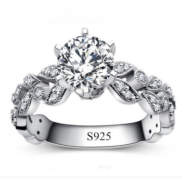 1.75€ - Fashion 925 Sterling Silver Rings for women 2015 anel diamante Jewelry CZ Diamond female ring vintage wedding rings alliance 097 - Crystal L Jewelry