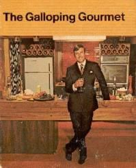 Graham Kerr, The Galloping Gourmet - Not sure if I should really pin this in cult tv, next to 24, the man from Uncle and so on but Graham was my favourite tv chef. Loved the bit at the end of the show when he would drag someone from the audience to test his food. Why don't tv chefs do that now! -test the food on the tv crew if theres no audience!