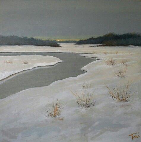Distesa bianca 70x50 cm Luigi Torre painter 2016