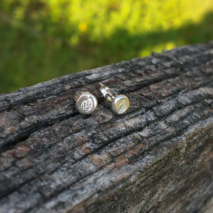 These little stud earrings are ethically handmade with 100% recycled sterling silver and gorgeous for everyday wear.  Inspired by Autumn