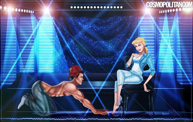 """With Aladdin as Tito and Kristoff as The Kid, Prince Charming himself nabbed the ~role~ of Magic Mike. 