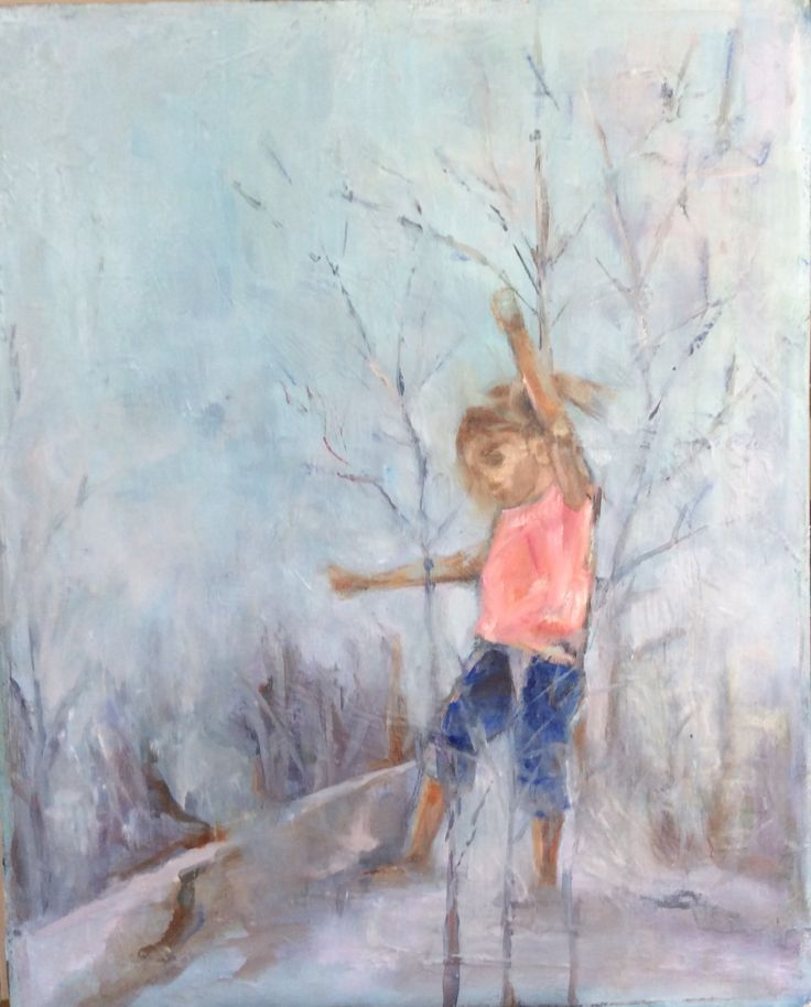'Walk in the woods' oil on canvas