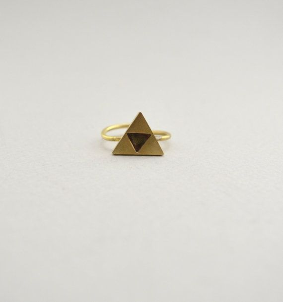 triforce ring/zelda ring/zelda jewelry by AbyCraft on Etsy