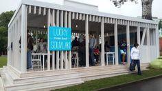 В саду «Эрмитаж» открылось летнее кафе LuckySouvlaki. Изображение №1.