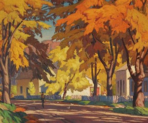 "The Group of Seven A.J. Casson ""Street in Glen Williams"""