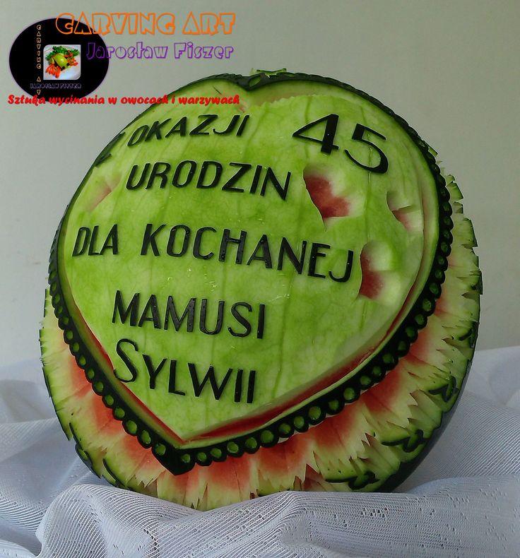 Urodzinowy arbuz dla Pani Sylwii