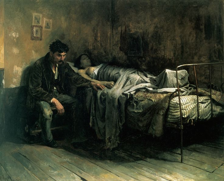 La Miseria by Cristóbal Rojas (1886). The author, suffering from tuberculosis, depicts the social aspect of the disease, and its relation with living conditions at the close of the 19th century - Wikipedia, the free encyclopedia